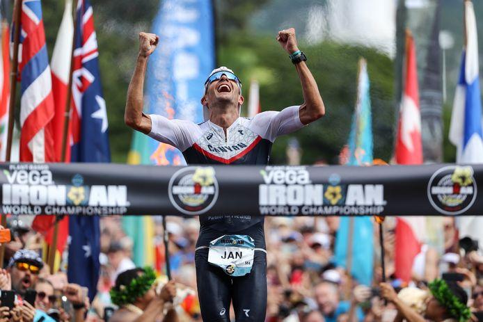 Jan Frodeno is ook drievoudig winnaar van de Ironman in Hawaï.