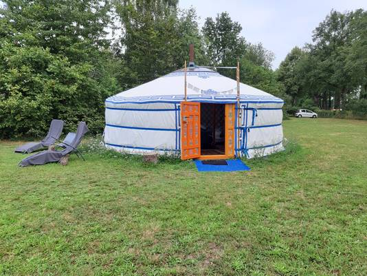 De yurt aan de Huiskesdijk in Geesteren.