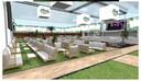 Een foto van hoe de afgewerkte zomerbar er zal uitzien