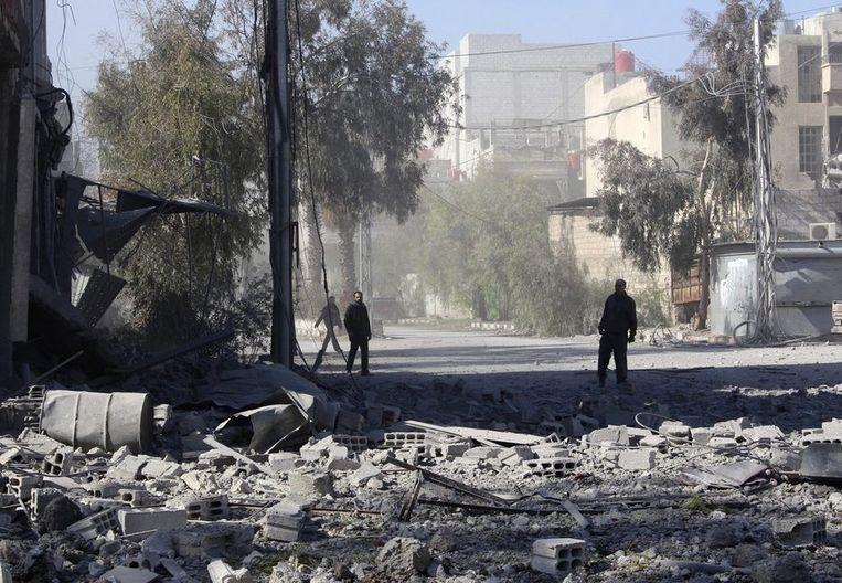 Damascus, 13 februari. Beeld reuters
