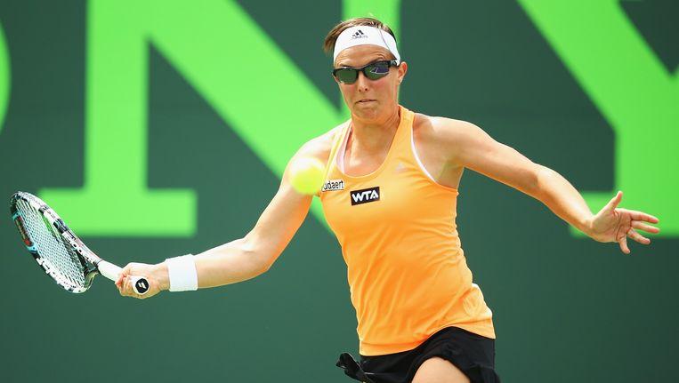 Kirsten Flipkens consolideert haar 23e plaats op de WTA-Ranking en blijft de beste Belgische tennisster van het moment. Beeld BELGA