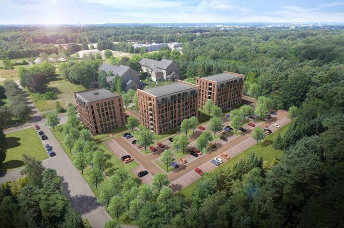 Een project van Van Grunsven Groep: de bouw van het Simon Stevin Kazerneterrein (90 appartementen) in Ede.