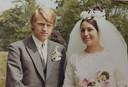 Hans en Carla op hun trouwdag.