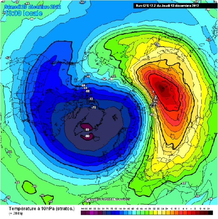 SSW in december 2012 met winterweer in januari tot maart 2013.