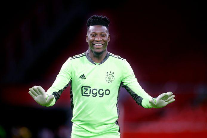Andre Onana tijdens Ajax - PSV op 10 januari.