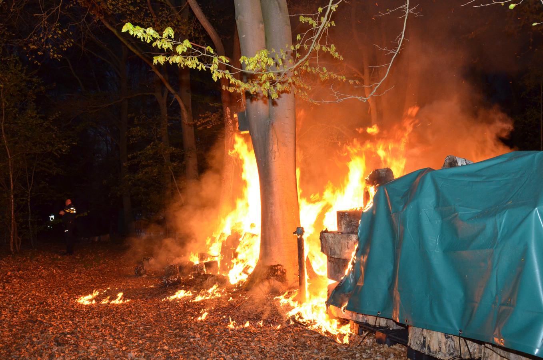Brand aan de Dennendijk in Zutphen.