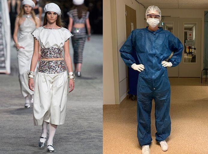 Margriet Loosman ging van model in de spotlights naar 'marsmannetje' als verpleegkundige in het Dokter Jansencentrum in Emmeloord.