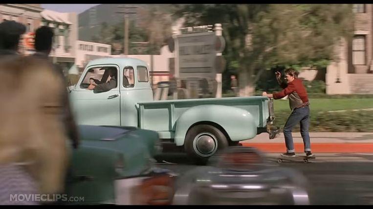 Michael J. Fox als Marty McFly in de eerste 'Back to the Future'. Beeld Humo