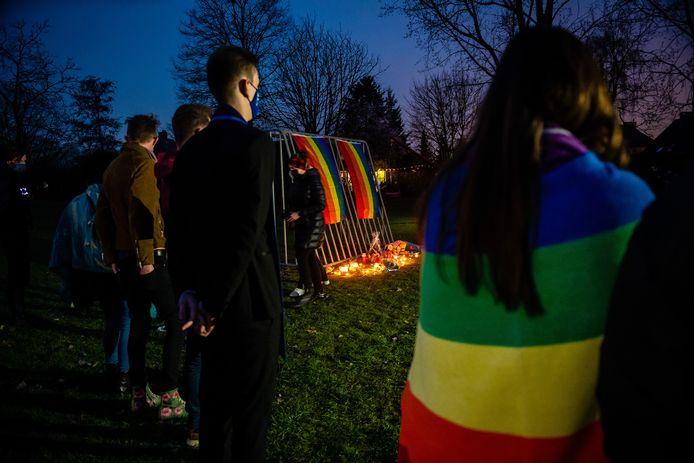 Un rassemblement a eu lieu le 8 mars à Beveren, à l'endroit où David Polfliet a été tué.