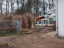 De sloop van de serres en aanbouw van het Roze Kasteel.