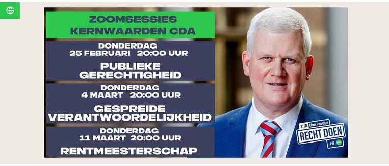 De campagne van Chris van Dam. Beeld