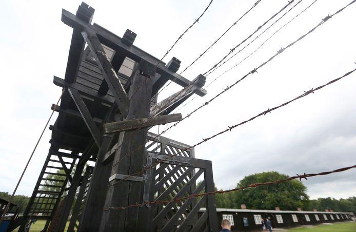 Een wachttoren van naziconcentratiekamp Stutthof