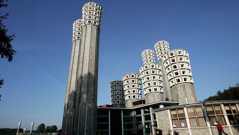 De karakteristieke torens van de Velsertunnel. Beeld ANP