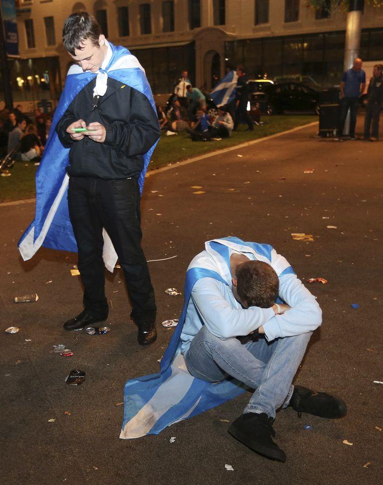 Het yes-kamp is teleurgesteld, maar wordt getroost met extra bevoegdheden. Beeld AP
