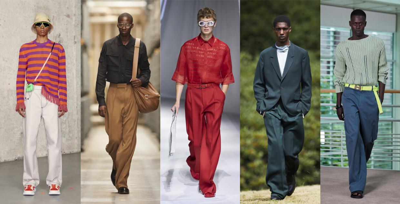 Vanaf links: MSGM, Ermenegildo Zegna, Fendi, Ermenegildo Zegna, Hermès Beeld Imaxtree