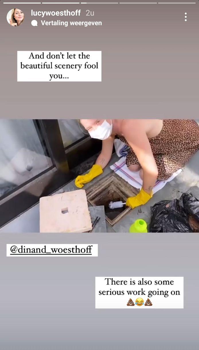 Lucy Woesthoff probeert de riolering op te knappen.