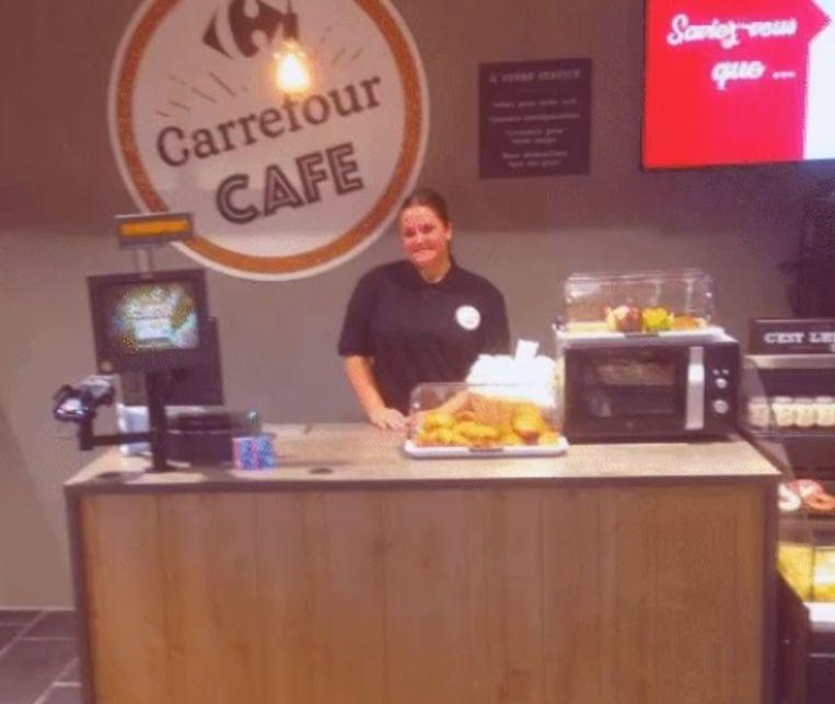 Een beeld uit het Carrefour Café in Belle-Île, bij Luik.