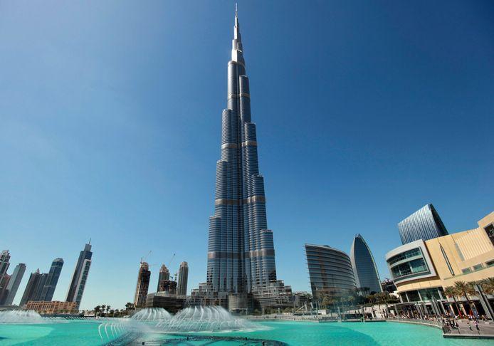 De Burj Khalifa in Dubai.