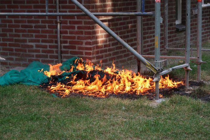 Er was gaasdoek in brand gestoken.