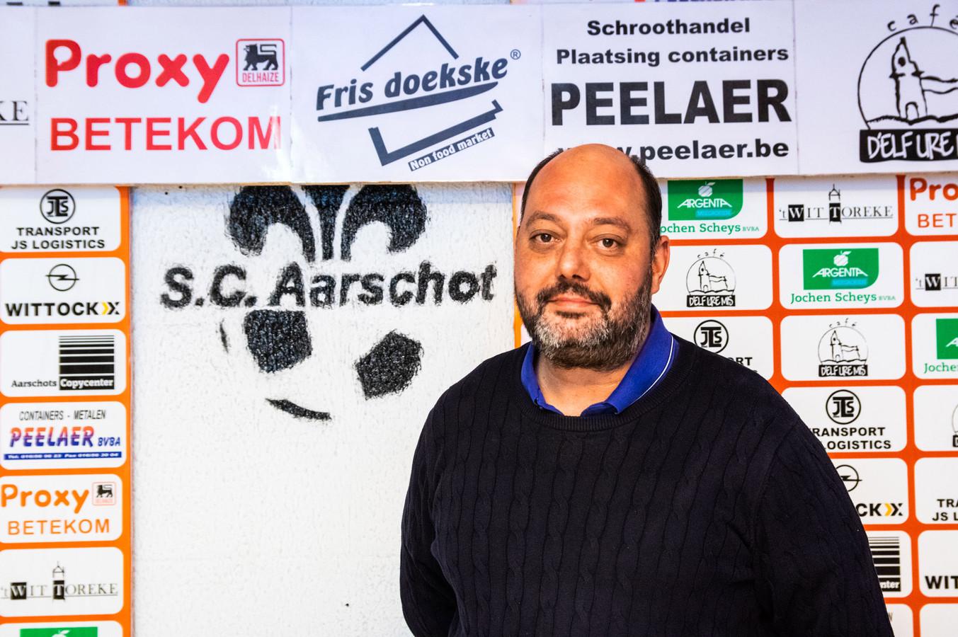 De geruchten over een mogelijk faillissement doen voorzitter Dimitri Van Camp (SC Aarschot) pijn in het hart.