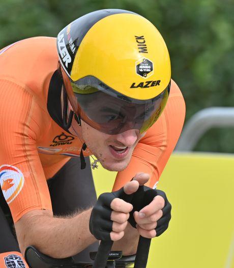 Mick van Dijke zit tijdje in de hot seat bij WK tijdrijden, maar moet berusten in vijfde plaats