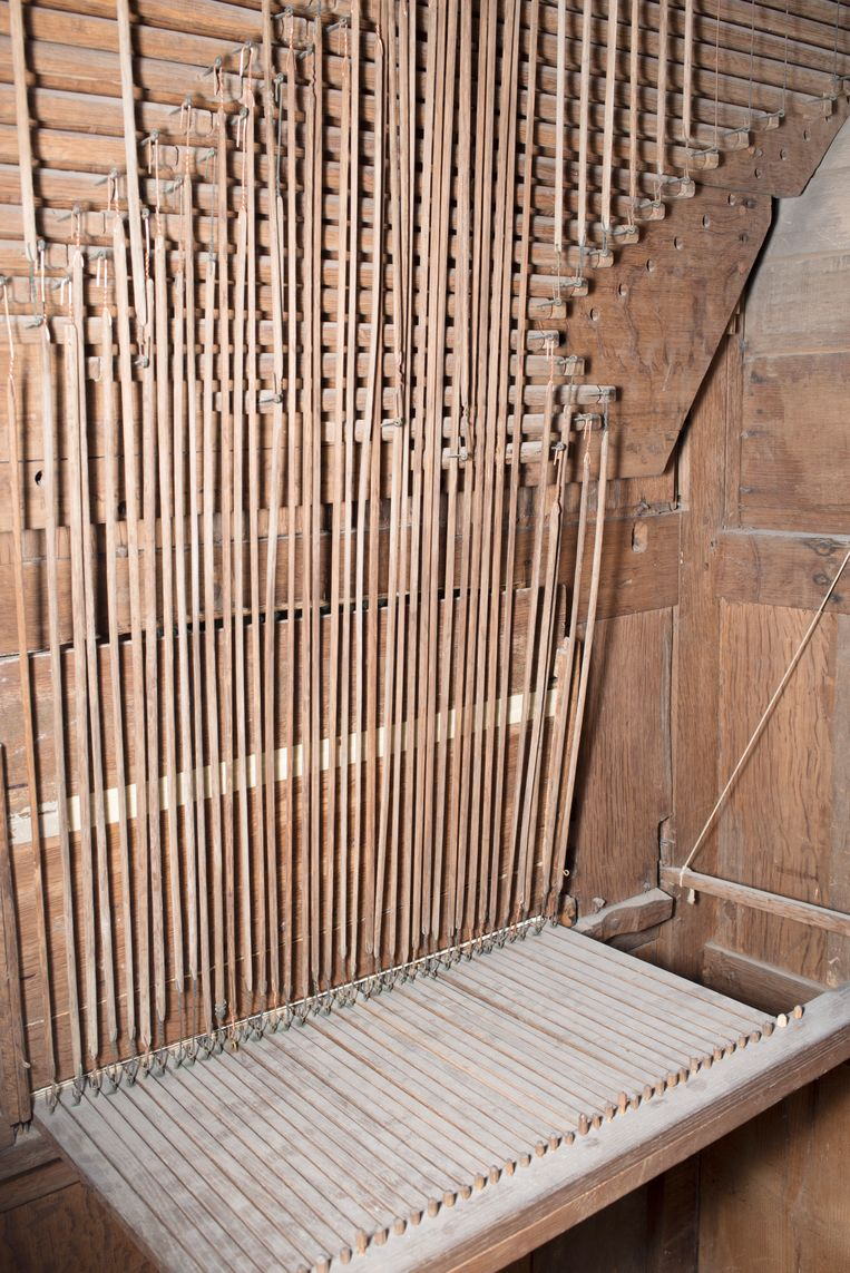 Orgel in de Grote Kerk van Oosthuizen. Beeld Annabel Miedema