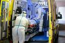 Defensie opende een extra coronavleugel in het St-Michielsziekenhuis om meer coronapatiënten te kunnen verzorgen (archiefbeeld).
