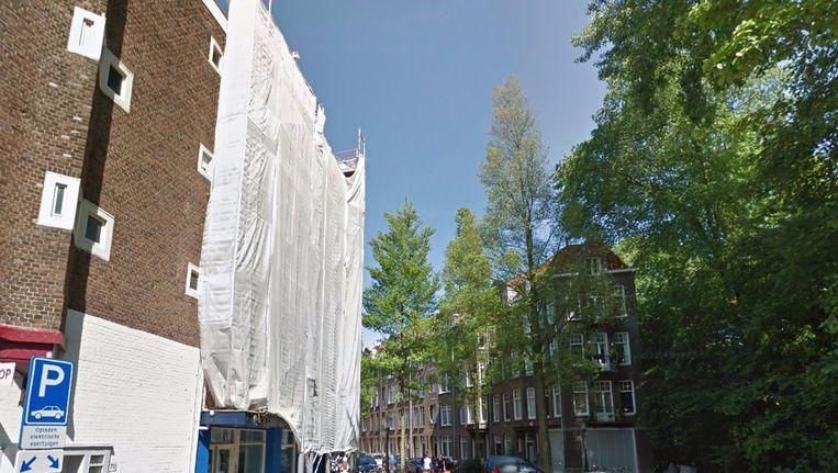 De locatie waar het nieuwe hotel komt, aan de Zocherstraat. Beeld Google Street View