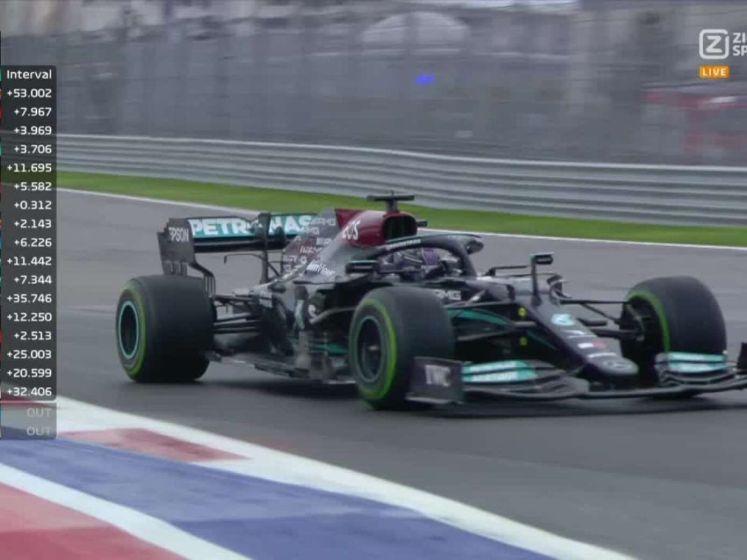 Lewis Hamilton wint de GP Rusland, Verstappen tweede