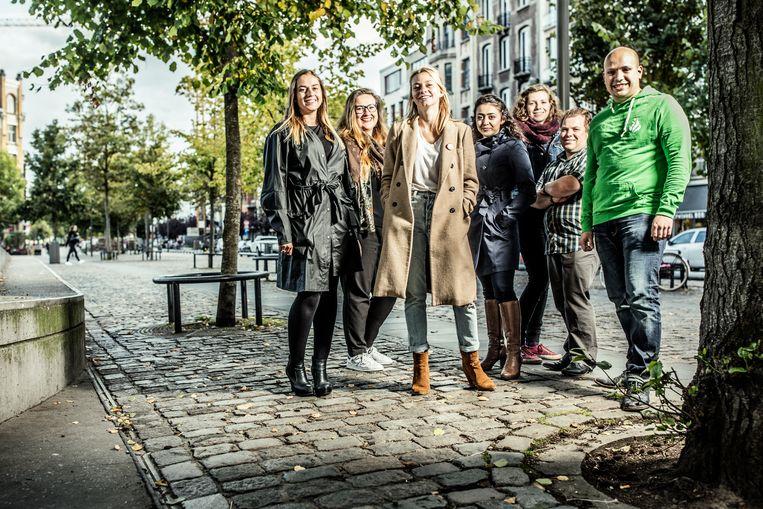 V.l.n.r: Jong VLD, Vlaams Belang Jongeren, Jongsocialisten, Jong CD&V, (studentenorganisatie) COMAC, Jong NVA, jong Groen. Beeld Franky Verdickt