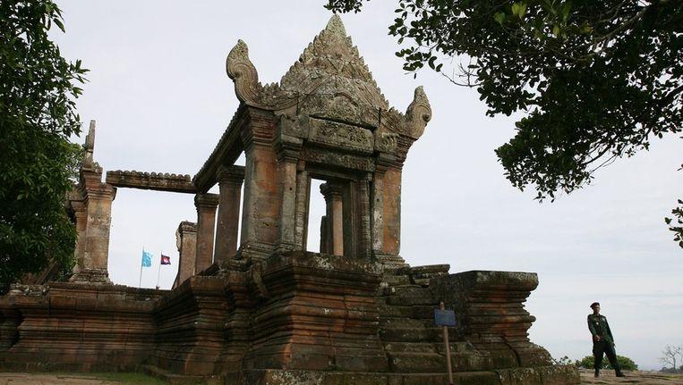 Het duizend jaar oude tempelcomplex Preah Vihear Beeld epa