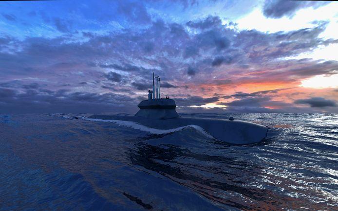Impressie van het ontwerp voor de vier onderzeeboten die Damen Naval samen met Saab Kockums wil bouwen voor de Nederlandse marine.
