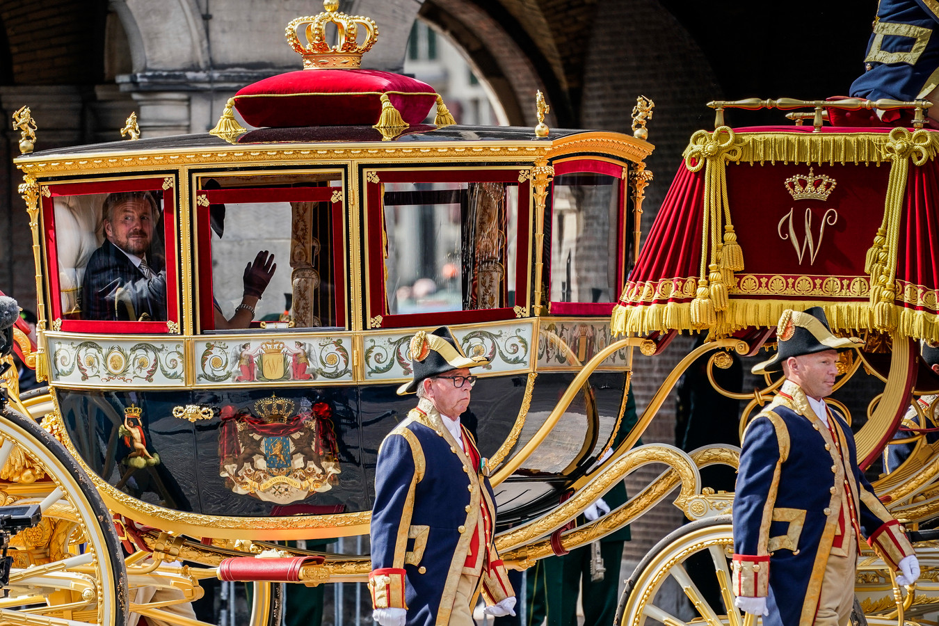 Tijdens Prinsjesdag vorige maand reed de Glazen Koets met het koningspaar nog gewoon door Den Haag.
