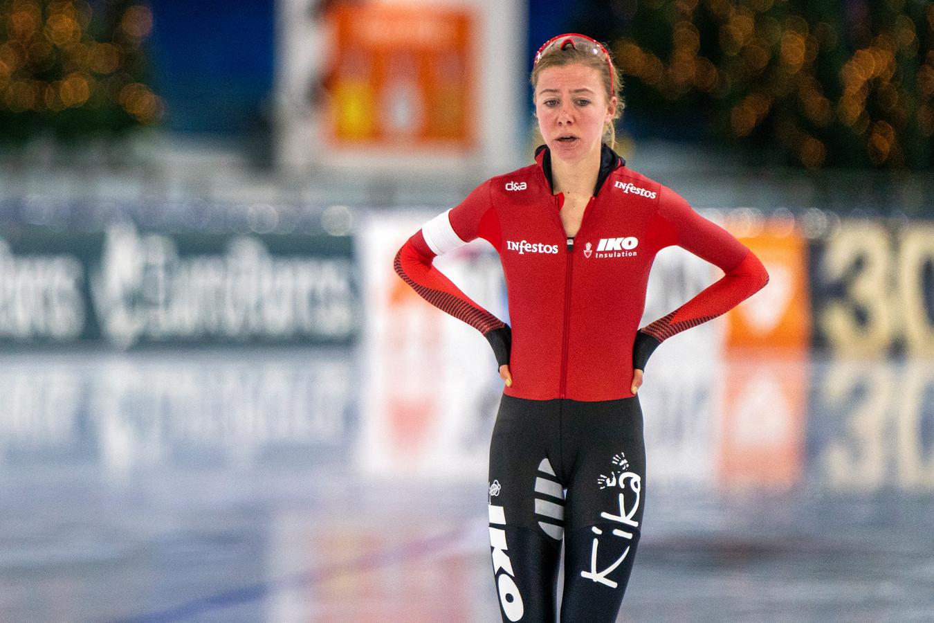 Esmee Visser baalt.