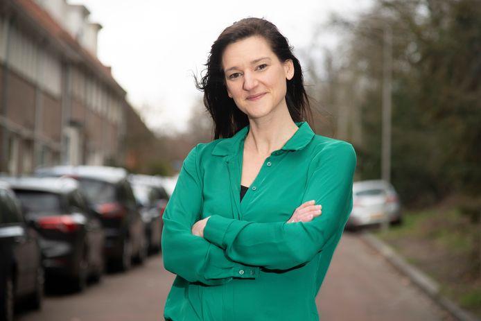 """Sarah Dobbe (SP).  ,,Ik denk dat we een hele mooie, positieve campagne hebben gevoerd, dus dan is de uitslag toch wel teleurstellend."""""""