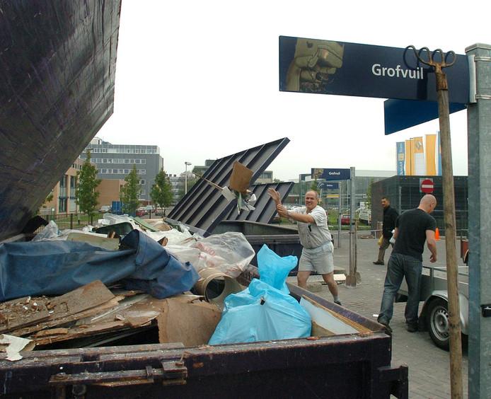 Afvalstation in Breda.