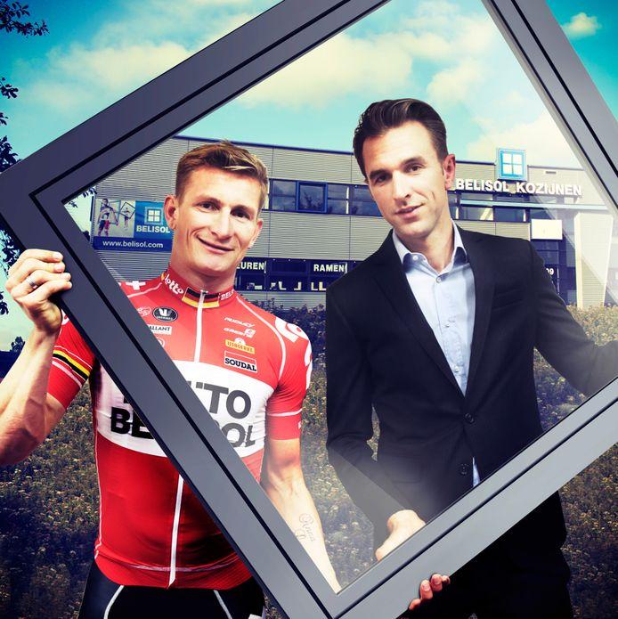 Dirk Bellemakers met zijn oud-ploeggenoot André Greipel van LottoBelisol.