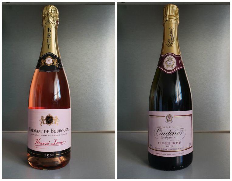 1. Honoré Louis Crémant de Bourgogne Brut | 2. Oudinot Champagne Brut