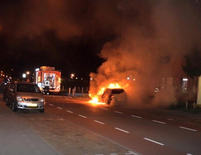 Autobrand in Middelburg.