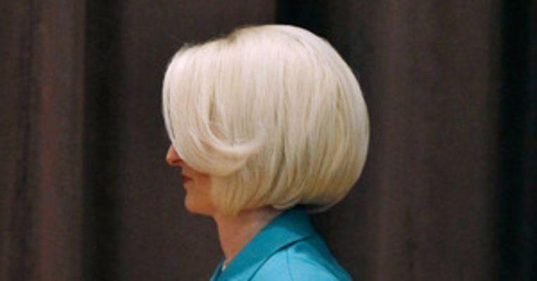 Het bekritiseerde kapsel van Callista Gingrich, vrouw van Newt. Beeld afp