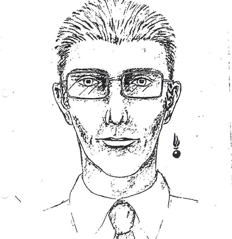 De robotfoto van de man die de auto stal voor de aanslag op kolonel Herman Vernaillen.