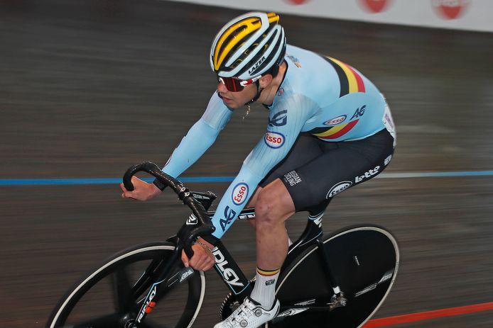 Milan Fretin, hier aan de slag tijdens de International Belgian Track Meeting, wilde graag starten in de GP Vermarc.