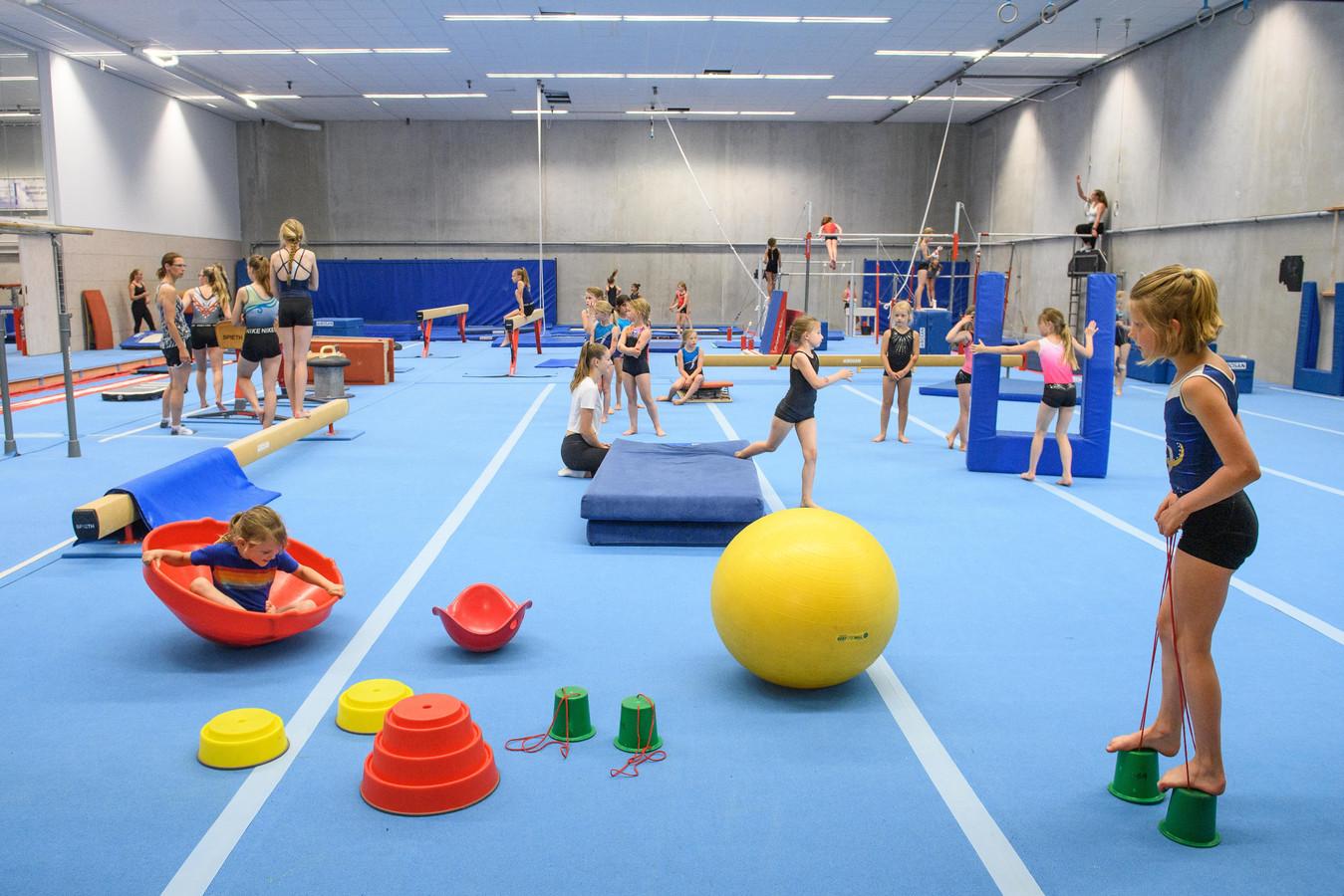 Volop activiteiten tijdens een trainingssessie van de turnvereniging.