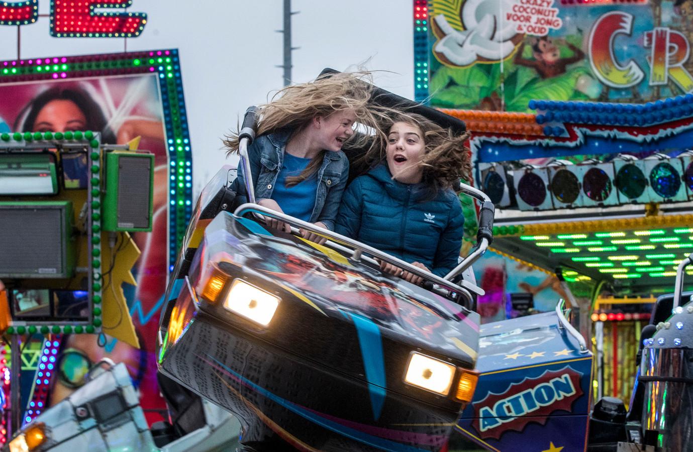 Kermis in Veenendaal op het evenemententerrein in 2018.