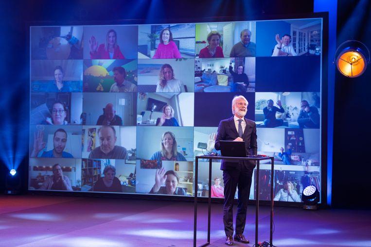 Hoogleraar Erik Scherder was een van de sprekers tijdens het seminar van de Mentelity Foundation. Beeld Paul Reehorst.