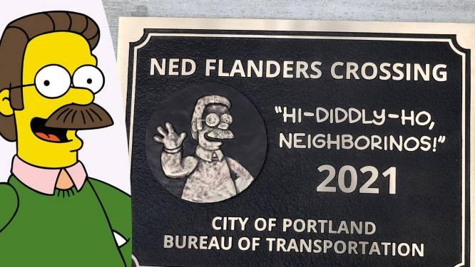 Ned Flanders krijgt eigen brug naar zich vernoemd