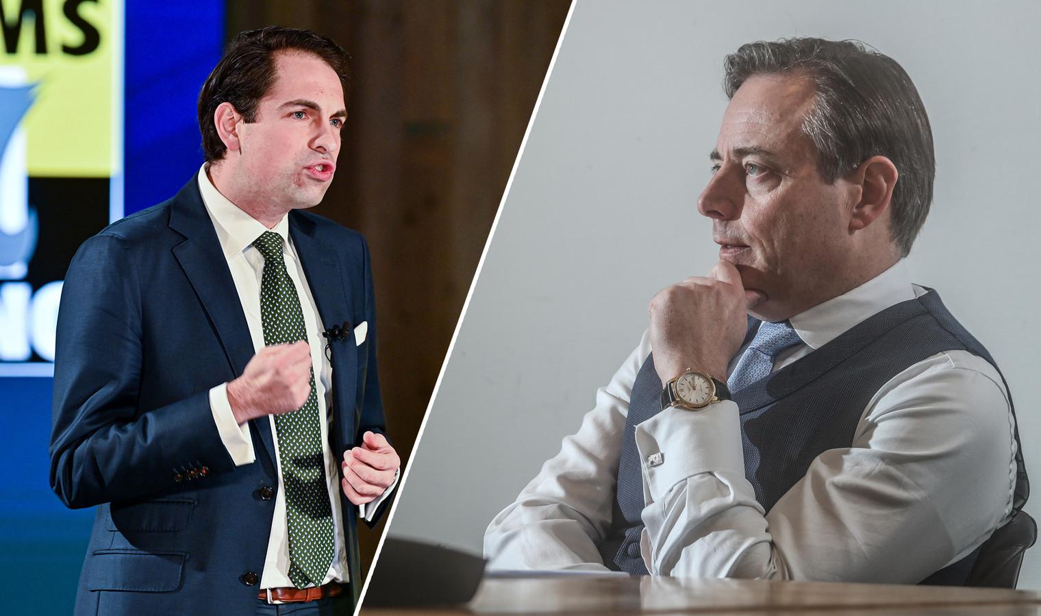 Vlaams Belang-voorzitter Tom Van Grieken en N-VA-voorzitter Bart De Wever.