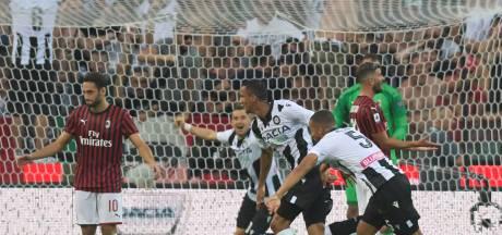 Geen goede start van Serie A-seizoen voor AC Milan, Nuytinck blijft op de bank