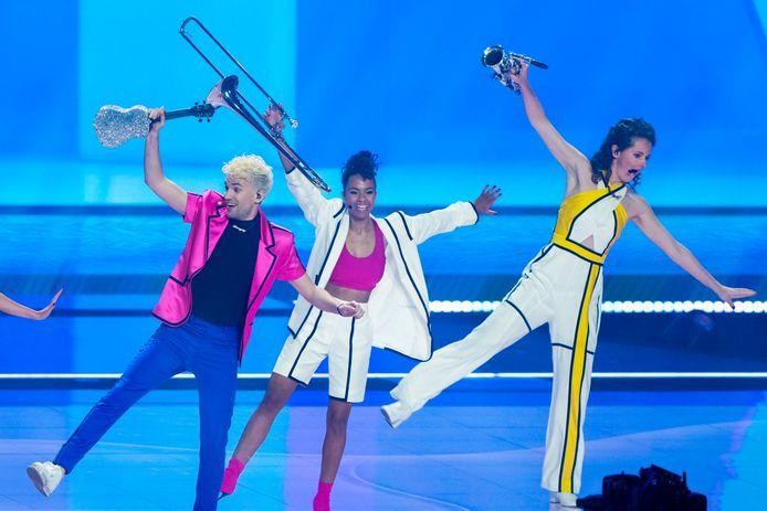 Eurovisie songfestival in Ahoy. De act van Duitsland - Jendrik - I don't feel hate.