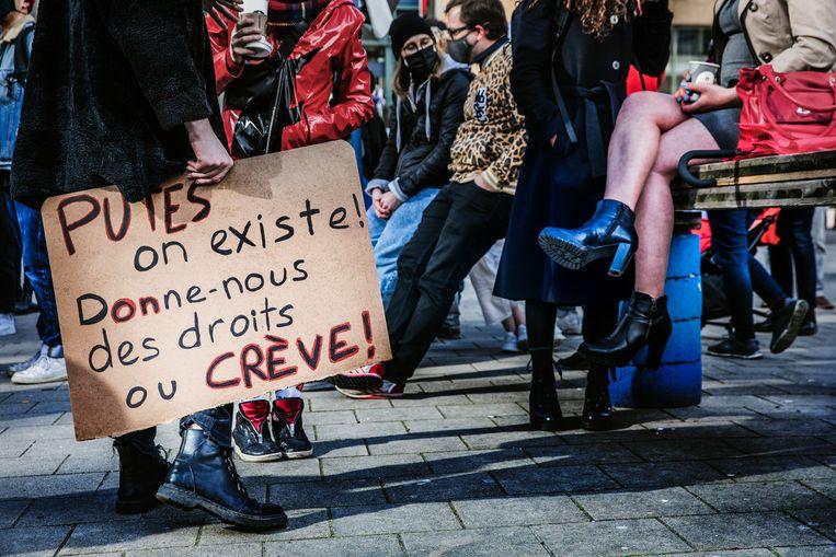 De eisen zijn helder: 'De regering moet ons horen, onze realiteit zien, en onze eisen ondersteunen – hier en nu.'  Beeld Aurélie Geurts